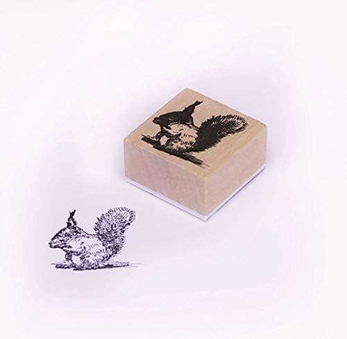 Squirrel Wooden Rubber Stamp, Craft Stamps, DIY Wedding Favours, Gift Tags, Christmas Craft, Scrapbooking, Vintage Stamp, Squirrel Stamp